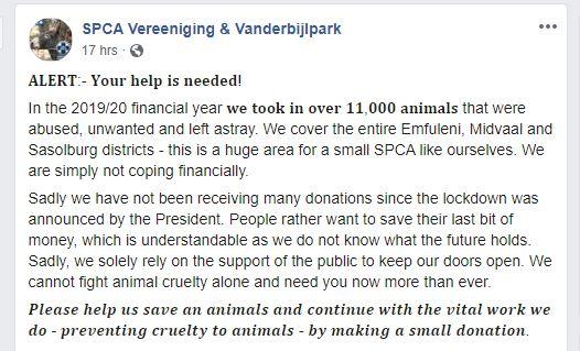 SPCA Vereeniging & Vanderbijlpark