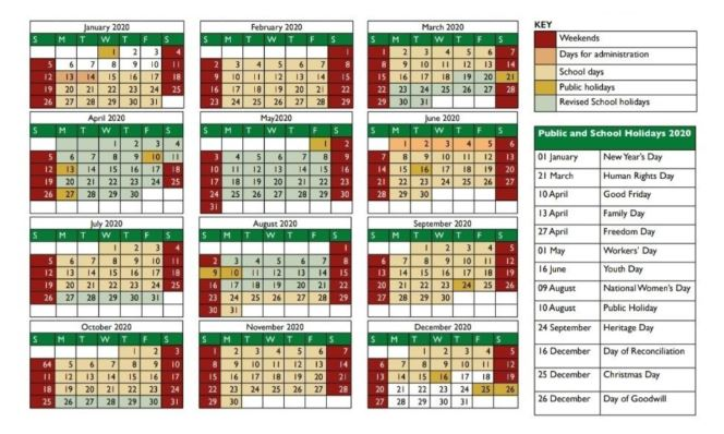 New school calendar