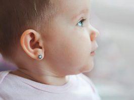 Child's ear piercing